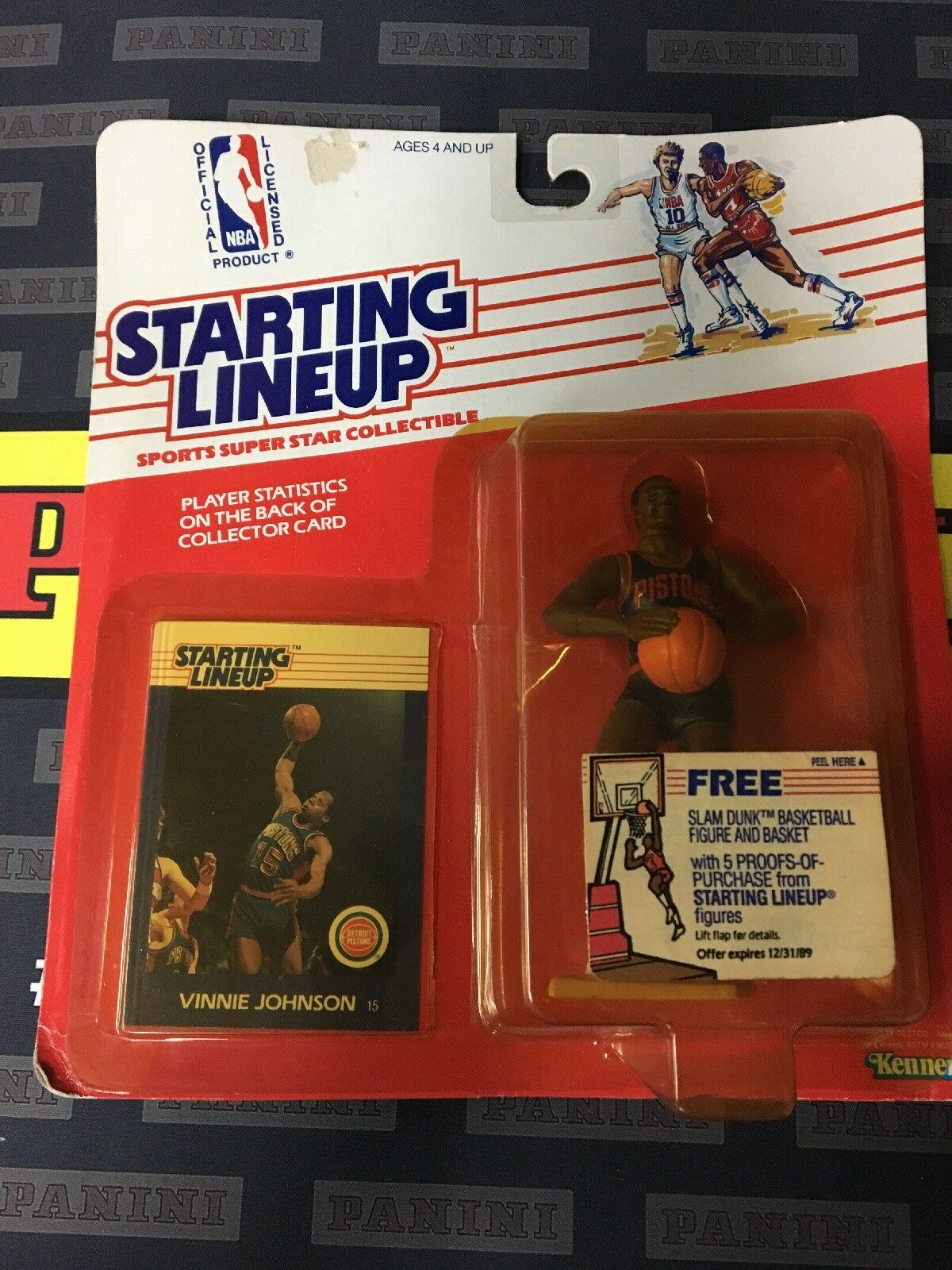 1988 NBA STARTING LINEUP VINNIE JOHNSON DETROIT PISTIONS FREE SHIPPING