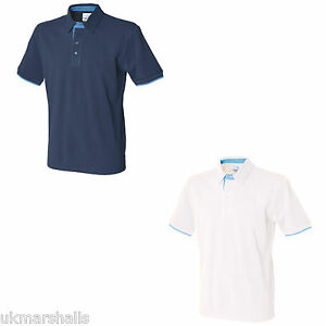 FRONT-ROW-CONTRAST-COTTON-PIQUE-POLO-SHIRT-S-XXL-FR200