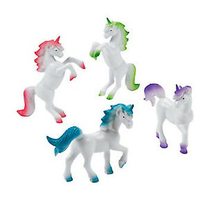 UNICORN-PARTY-Unicorn-Figures-Prancing-Unicorns-Great-Party-Favours-Pack-of-4