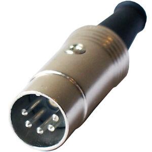 2x-5-poli-Connettore-DIN-maschio-saldatura-AUDIO-MIDI-del-cavo-180-gradi-PIN