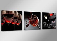 Bilder 3 Teile Visario 150x50cm roter Wein 4203 neu Marke sofort Versand
