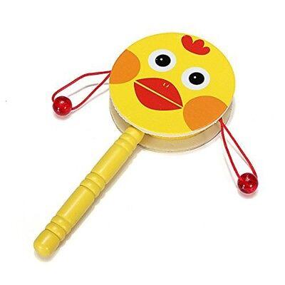 Jouet de tambour a main du bois instruments de musique pour enfants bebe Z5Y5 68