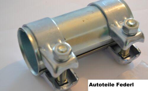 Seat Rohrverbinder//Doppelschelle 50,5 x 125mm  Audi 100//80//A3//A4//A6 Skoda VW