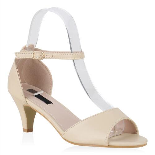 Damen Riemchensandaletten Klassische Sandaletten Absatzschuhe 896396 Modatipp