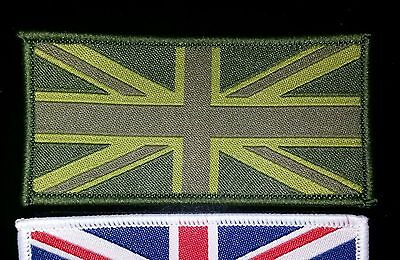 1 SUBDUED Hook back Union Jack Flag UK Army TRF badge badges patches soldier