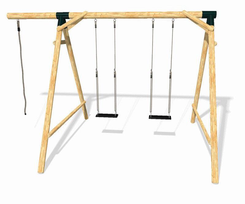 LoggyLand Spielplatz Set BOUNCE komplett Schaukel Doppelschaukel Schaukelgestell