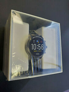 New Fossil Gen 5 Carlyle 44mm Stainless Steel Case Smoke Smartwatch FTW4024