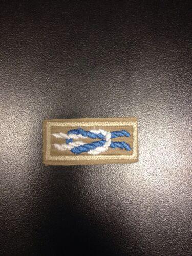 Silver Beaver Award Knot on Tan Open Weave Boy Scouts