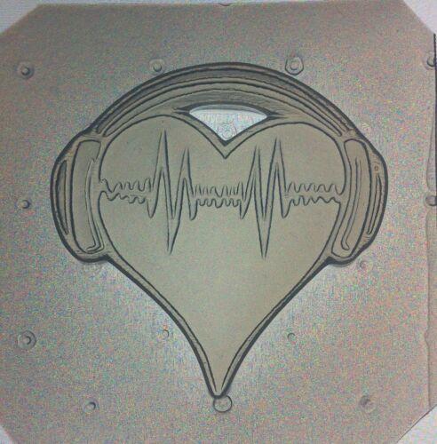 Flexible Resin Mold I Heart Music Head Phones Mould