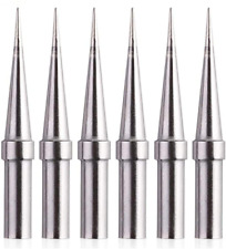 6pcs Replacement Tips Weller Et Soldering Iron Tips For Wes5150wesd51we1010na