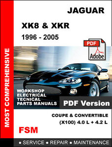 1996 2005 jaguar xk8 xkr 4 0l 4 2l engine oem service repair rh ebay com 2006 Jaguar XK 2005 jaguar xk8 owners manual pdf