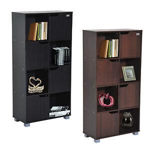 8 cube organizer storage bookcase bookshelf display shelf home d cor w door ebay. Black Bedroom Furniture Sets. Home Design Ideas