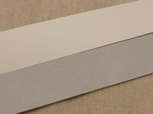 "Cintura LUNGA VUOTA 2.5mm Cinturino in Pelle Striscia In Cuoio In Pelle Bianco 127cm 50/"""