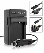 Camera Battery Mains and Car Charger with UK EU Plugs for Canon BP-709 BP-718