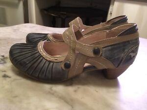 MUSTANG-pump-sandal-heels-retro-mary-Janes-womens-shoes-sz-39-9