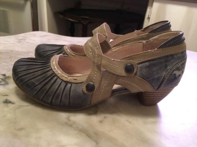 MUSTANG pump sandal heels retro mary Janes  womens shoes sz 39-9