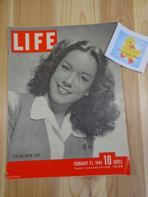 Life Magazine February 21 1944 Teenage Opera Star Great Ads and Articles