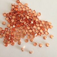 200 Pcs Copper 20 Flat Nail Head Studs 4 Prong 5mm 3/16 Crafts/clothing