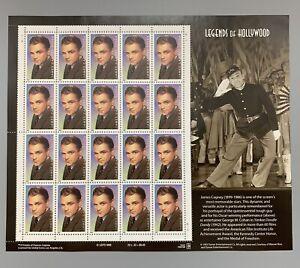 US Scott #3329 33c James Cagney-Legends Of Hollywood Sheet Of 20 MNH Stamps 1999
