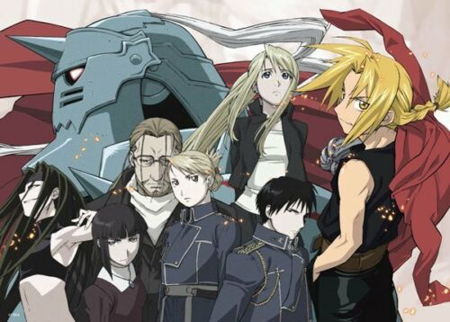 Fullmetal Alchemist Poster Brotherhood Edward Group High Grade Glossy Laminated