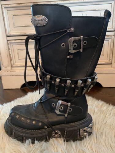 Demonia Platform Punk Goth Black 3002 Unisex Boots