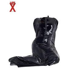 Latex Sauna Bag with Zip up front - 100% Latex black - sleepsack - Bodybag