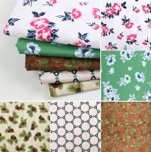 Penny Rose Forest Craft Bunting Quilting Cotton Fabric Amazing Price FQ Bundle