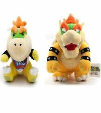 2Pcs Super Mario Magikoopa Kamek Bowser Jr. Koopa Plush Doll Toy cadeau de Noël