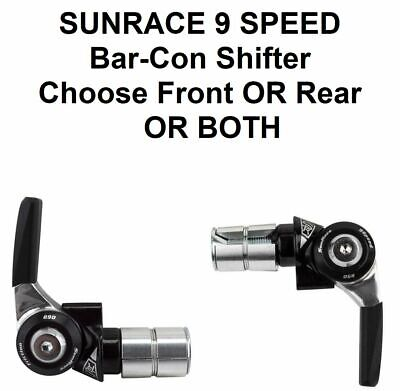 Sunrace SL-R96 Bar End Right Hand Shifter 9-Speed Index Black Silver