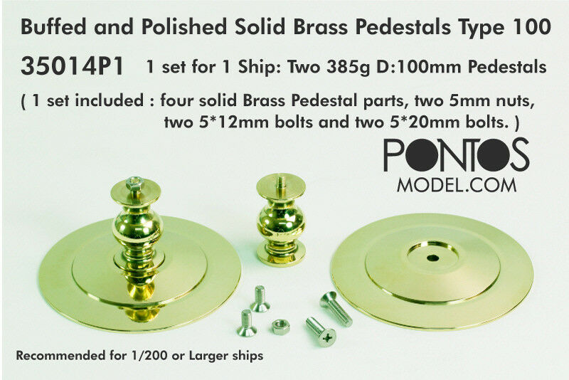 Pontos Models Buffed & Polshed Solid Brass Pedestals Typ 100