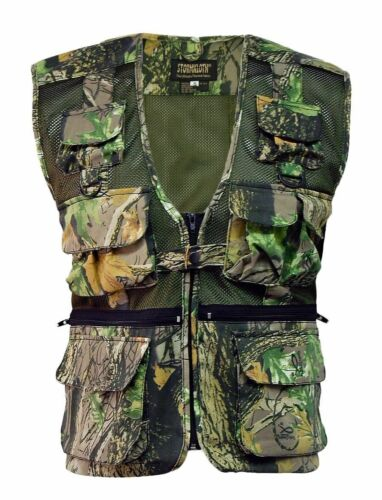 Men/'s Stormkloth Camouflage Multi Pocket Waist Coat Vest Camo Fishing Hunting