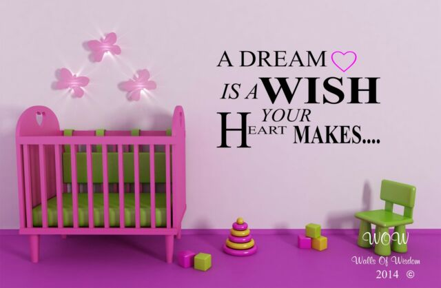 Wall Sticker/Decal Disney inspired Cinderella A Dream Is A Wish Your Heart Makes