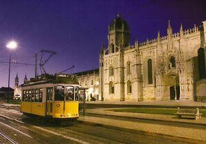 Ansichtskarte-alte-Strassenbahn-Lissabon-Linie-15-eletrico-an-Kathedrale