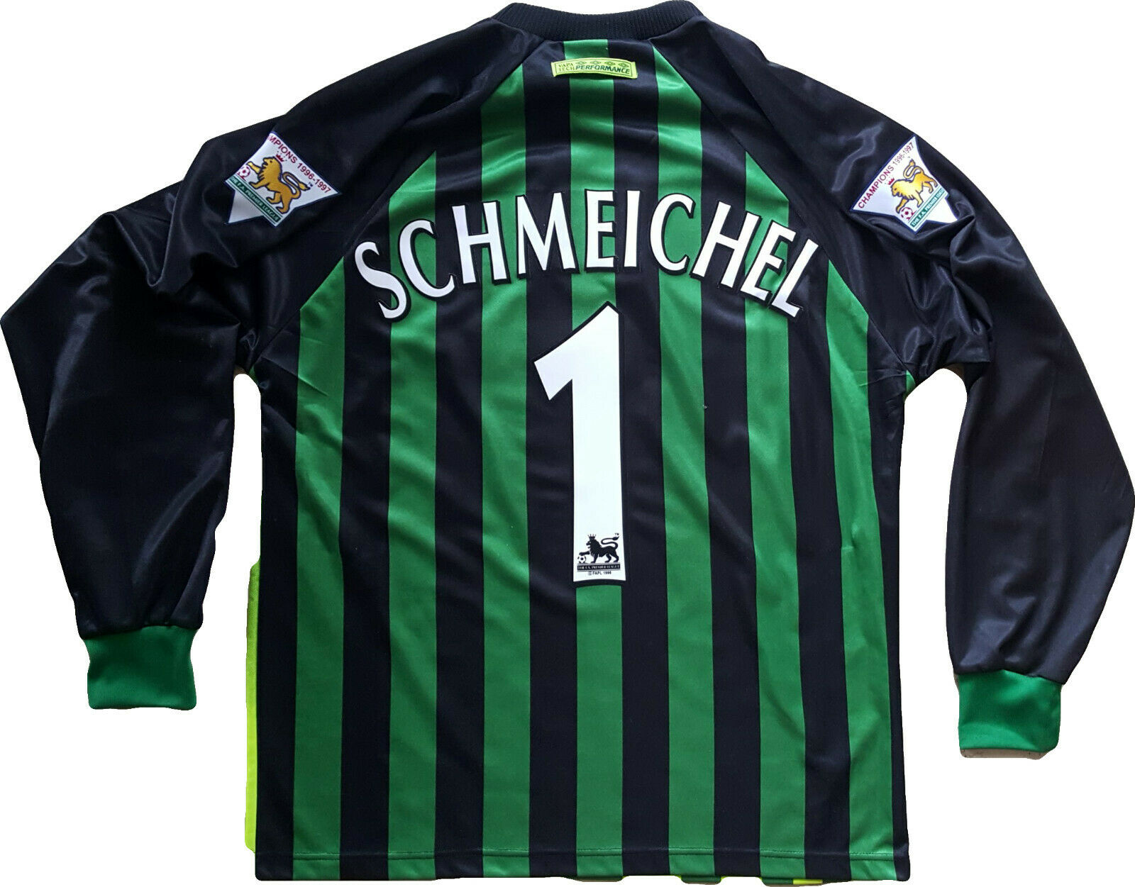 Shirt Schmeichel uomochester United MUFC MUFC MUFC goalkeeper jersey player issue nuovo M 369