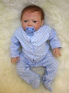 "Real Touch Lifelike Newborn Doll Soft Vinyl Silicone Reborn Baby Dolls 22""/55cm"