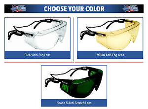 Bolle-Override-Over-The-Glass-Safety-Glasses-ANSI-Z87-Work-Eyewear-Choose-Color