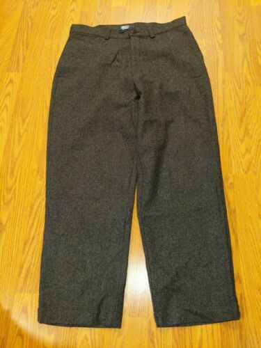 POLO RALPH LAUREN ~ MENS GRAY WOOL FLAT FRONT PANT