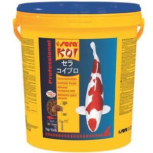7-kg-Eimer-sera-KOI-Professional-Sommerfutter-Fischfutter-Futter-fuer-Teichfische