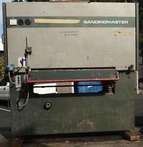 sandingmaster scsb 1100 wide belt sander woodworking