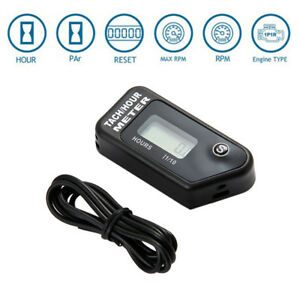 Tach-Digital-Hour-Meter-Tachometer-2-4-Strok-Gas-Spark-Engine-Waterproof