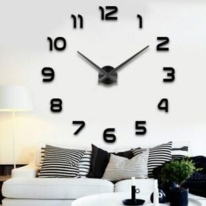 Moderne-Wanduhr-Gross-A142-Grosse-3D-Wand-Uhr-Designer-Wandtattoo-Quartz-XL-XXL