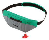 Onyx M24 Manual Inflatable SUP Belt Pack Life Jacket - Aqua/Grey