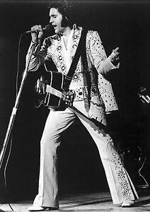 Art print POSTER / Canvas Elvis Presley Singing in Concert