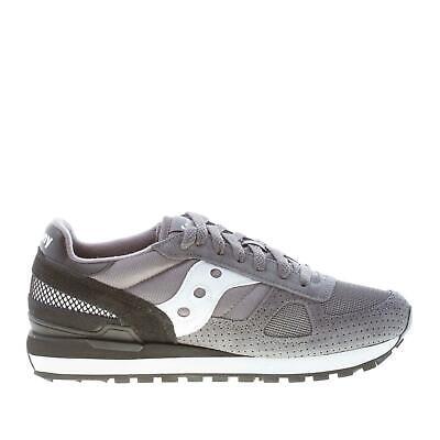 SAUCONY scarpe uomo Sneaker Shadow in camoscio e tessuto tecnico grigio più nero | eBay