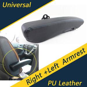 Details about Universal Truck Adjustable Left+Right Armrest Centre Console  PU Leather Black
