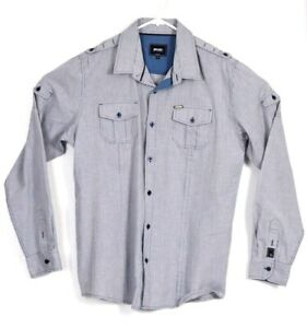 Rip-Curl-Shirt-XL-Mens-Casual-Button-Up-Formal-Designer-Top-Long-Sleeve-X-LARGE