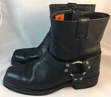 Harley-Davidson Men's El Paso Harness 7-Inch Motorcycle Boots, Side Zip D94422