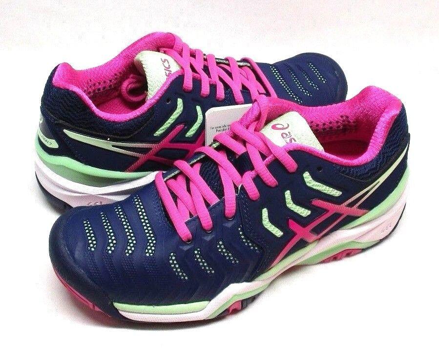 Asics Damen Indigoblau/Pink Gel-Resolution 7 Tennisschuhe, Indigoblau/Pink Damen Glühend/Paradise f701d5