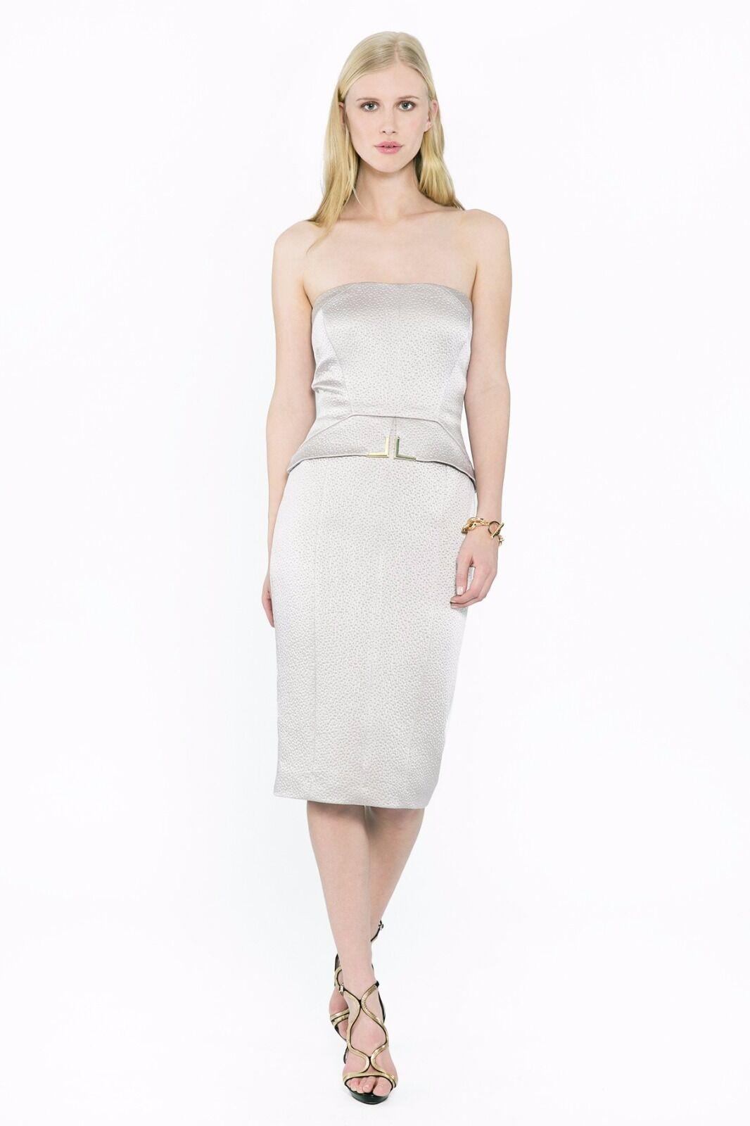 Amanda Wakeley-senza spalline Peplum Dress-Taglia 10-RRP 10-RRP 10-RRP .00 - NUOVA CON ETICHETTA ccc38a