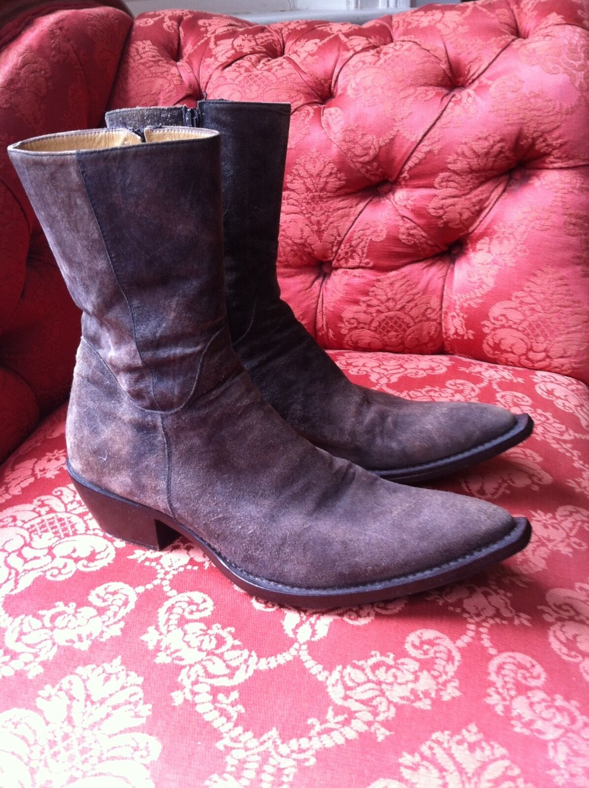 Stunning Gianni Barbato Boots Grey Suede 43.5
